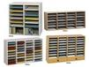 WOOD ADJUSTABLE COMPARTMENT LITERATURE ORGANIZERS